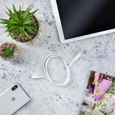 Kabel Hama USB Lighting-C 1 meter wit