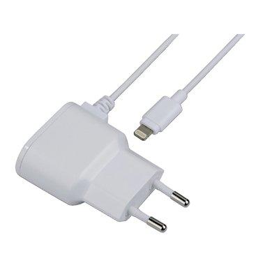 Oplader Hama USB-Lightning 1A 1 meter wit