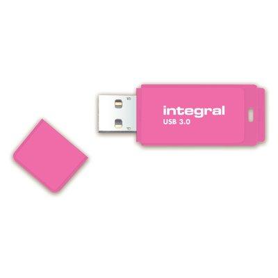 USB-stick 3.0 Integral 64GB neon roze