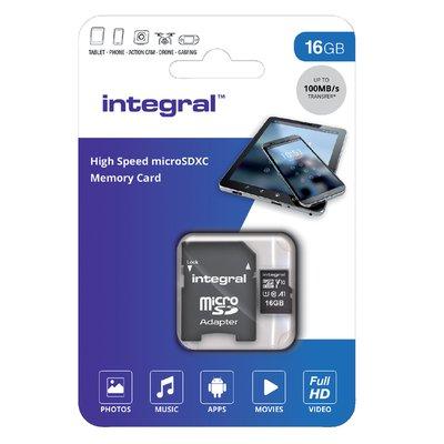 Geheugenkaart Integral microSDHC V10 16GB