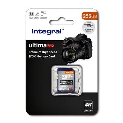 Geheugenkaart Integral SDXC V30 256GB