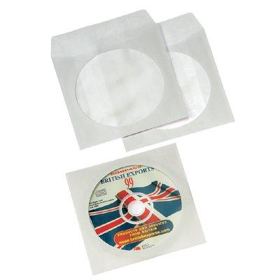 Cd/dvd hoes Fellowes met klep wit