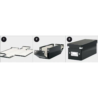 Cd box Leitz WOW Click & Store 143x136x352mm wit