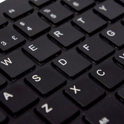 Ergonomisch toetsenbord R-Go Tools Compact Qwerty zwart