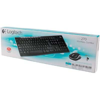 Toetsenbord Logitech MK270 Azerty +muis zwart