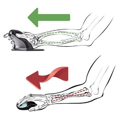 Ergonomische Muis Fellowes Penguin draadloos large
