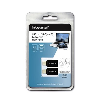 Adapter Integral 3.1 USB-A naar USB-C