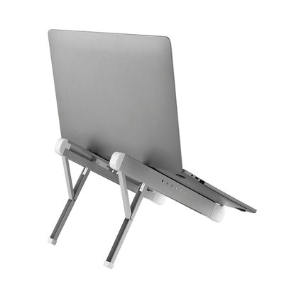 Laptopstandaard Neomounts NSLS010 opvouwbaar Zilver