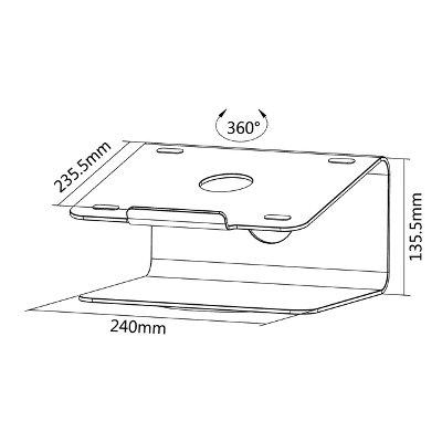 Laptopstandaard Neomounts NSLS050 zilver