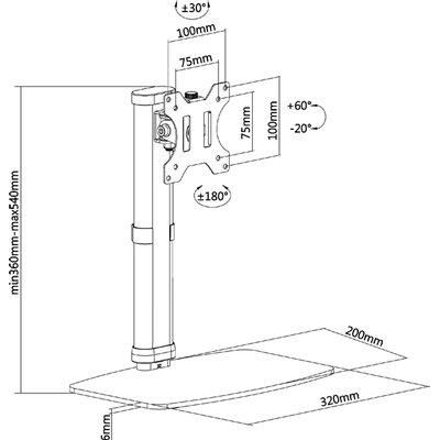"""Monitorstandaard Neomounts D890 10-32"""" wit"""