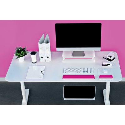 Monitorstandaard Leitz WOW Ergo verstelbaar roze