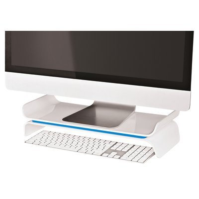 Monitorstandaard Leitz WOW Ergo verstelbaar blauw