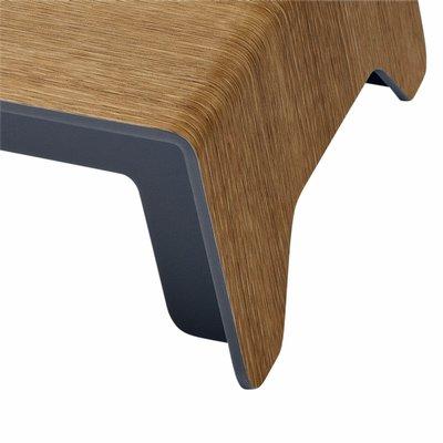 Monitorstandaard Sigel Smartstyle zilvergrijs/hout