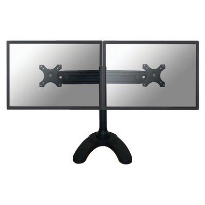 """Monitorarm Neomounts D700DD 2x19-30"""" op voet zwart"""