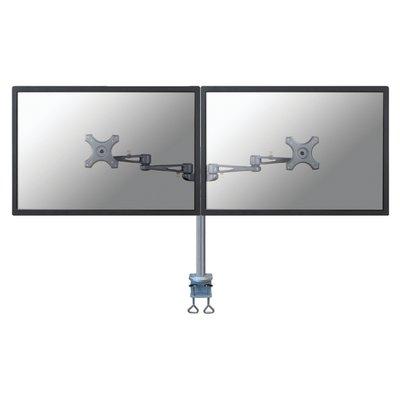 """Monitorarm Neomounts D935D 2x10-27"""" met klem zilvergrijs"""