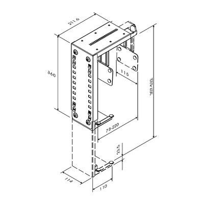 CPU houder Neomounts D100 30kg zilver