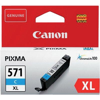 Inktcartridge Canon CLI-571XL HC blauw