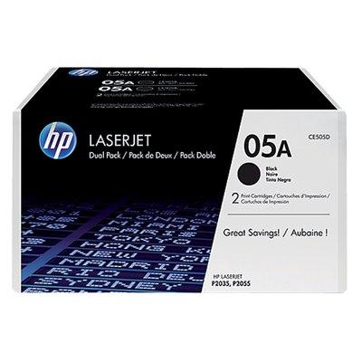 Tonercartridge HP CE505D 05A zwart 2x