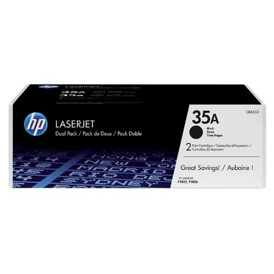 Tonercartridge HP CB435AD 35A zwart 2x