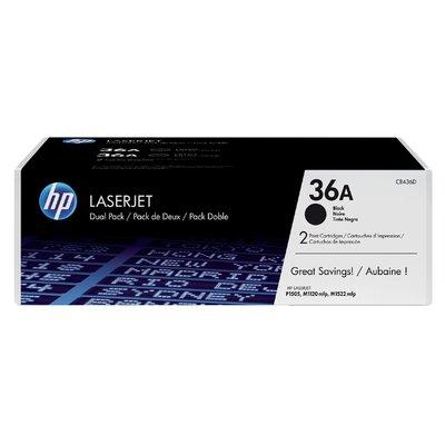 Tonercartridge HP CB436AD 36A zwart 2x