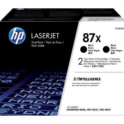 Tonercartridge HP CF287XD 87X zwart 2x HC