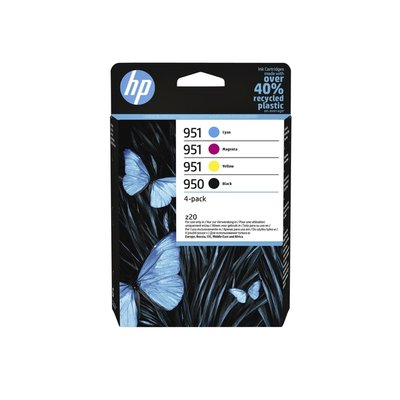 Inktcartridge HP 6ZC65AE 950/951 zwart + 3 kleuren