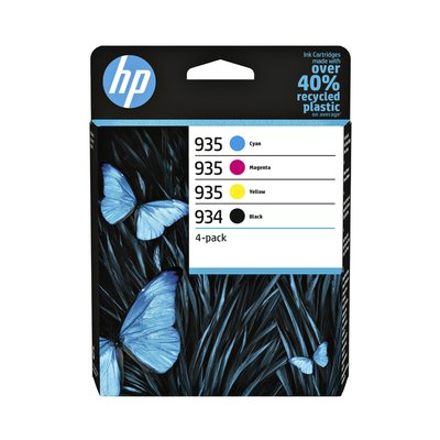 Inktcartridge HP 6ZC72AE 934/935 zwart + 3 kleuren